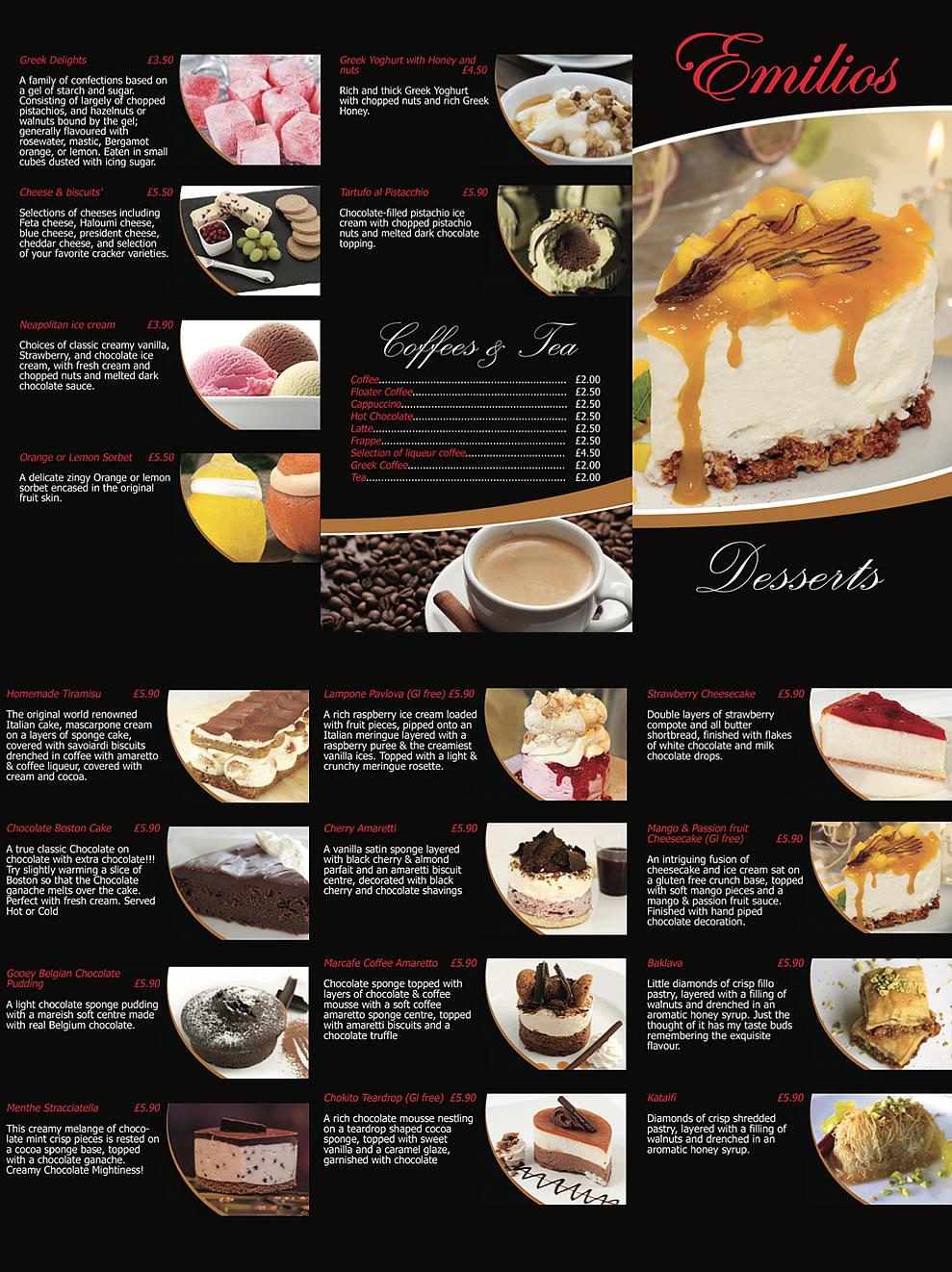 dessert menu new